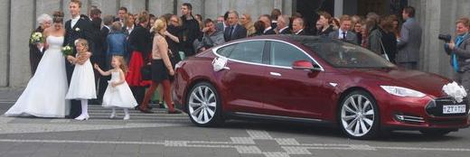 Trouwauto Tesla